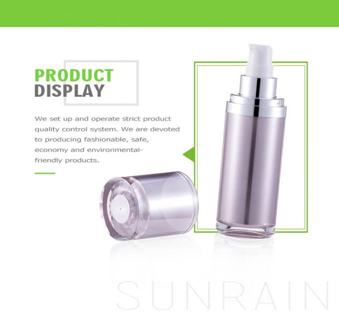 Luxury cosmetic packaging bottles / 15ml 30ml plastic empty cream bottle SR-2153A