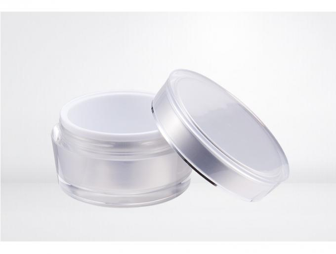 Clear empty double wall plastic cosmetic jars cream skin care jar SR2303A