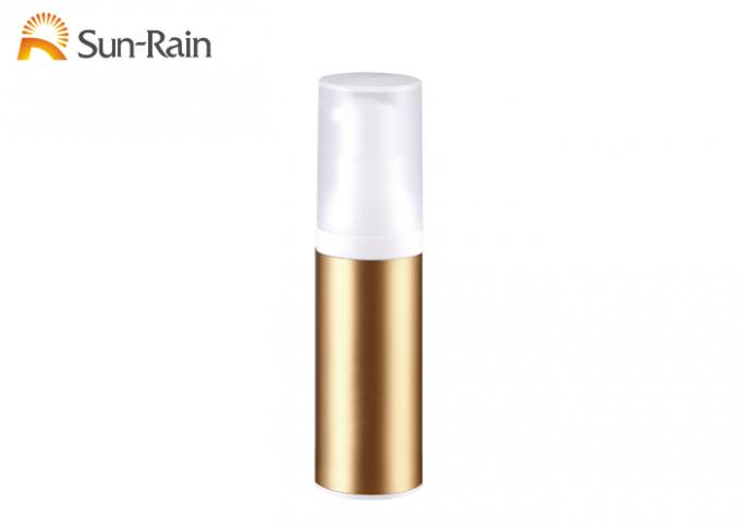 Recycle Airless Pump Bottle 30ml 50ml 80ml Containers In Gold Color Sr2109