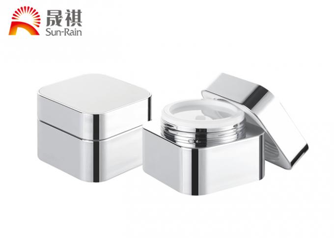 Luxury square acrylic 50g cream jar for cosmetic skin care packaging SR2307A
