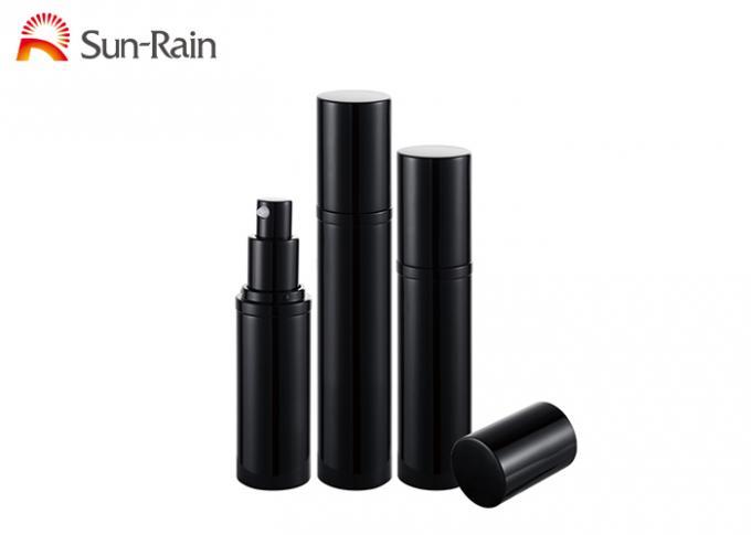 Black Airless Pump Bottle Slim Aluminum Cosmetic Packaging