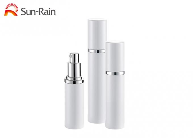 White 15ml 30ml 50ml Cream Pump Bottle Packaging For Cosmetics Alum Cap
