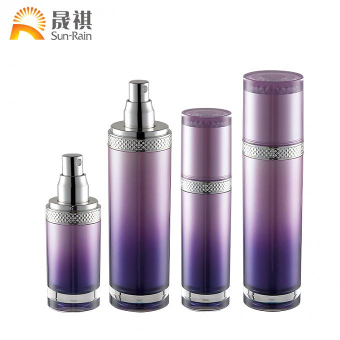 Acrylic Gradient Lotion Cosmetic Bottle Pmma Packaging 30ml 50ml 120ml SR2294A