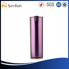 China Fashion purple Acrylic recyclable cosmetic packaging containers / bottles supplier