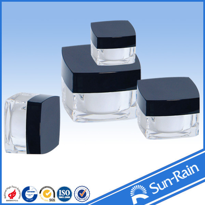 China 15g 30g 50g Face cream plastic jars and containers eco friendly Material supplier