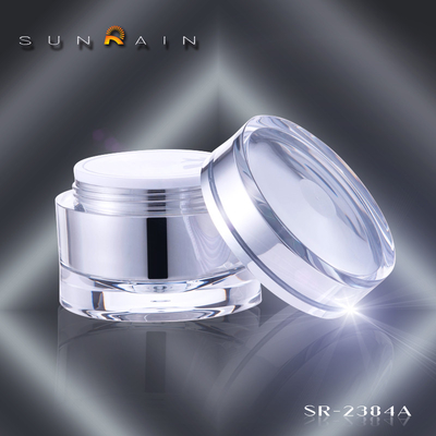 China Skin care makeup packaging Plastic Cosmetic Jars , SR-2384A body cream jars supplier