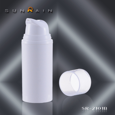 China Cosmetic packaging Airless Pump Bottle with plastic cap , SR - 2101B supplier
