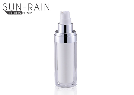 China Round silver acrylic PMMA body lotion bottle with sprayer pump SR-2277 supplier