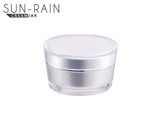 China Clear empty double wall plastic cosmetic jars cream skin care jar SR2303A supplier
