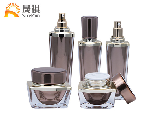 China Luxury Lotion Bottle Acrylic Cosmetic Packaging Set Empty Container SR2255 supplier