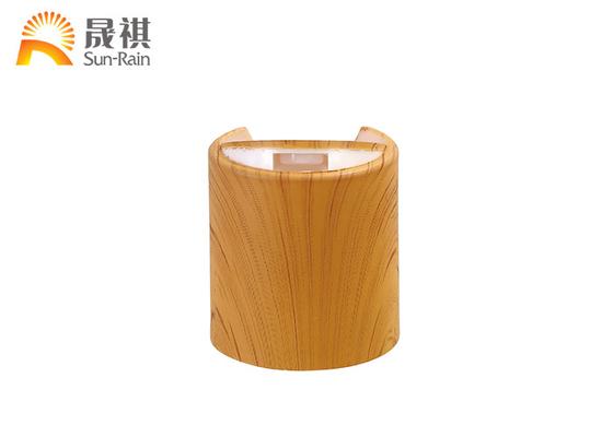 China Water Transfer Lid PP Screw Cap Wooden Lids Plastic Press Cap SR202A supplier