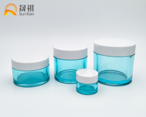China Plastic Petg Cosmetic Cream Jars Packaging With Big Capacity 5g 15g 30g 100g supplier