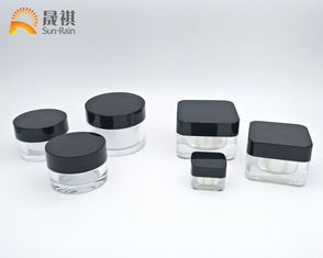 China Cream Plastic Cosmetic Jars Acrylic 5g For Eye Cream Sample Packaging supplier