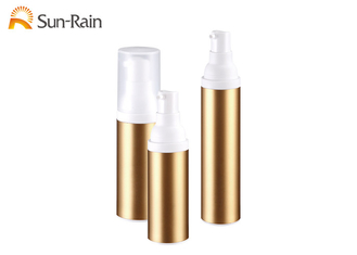 China Recycle Airless Pump Bottle 30ml 50ml 80ml Containers In Gold Color Sr2109 supplier