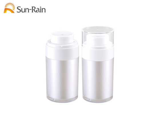 China Sr2151b Airless Dispenser Bottles , Double Deck Airless Lotion Pump Bottles supplier