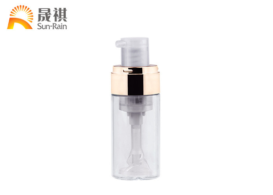 China 30ml 50ml Cosmetic Pump Spray Bottle Plastic Petg 0.3mm Discharge Rate supplier