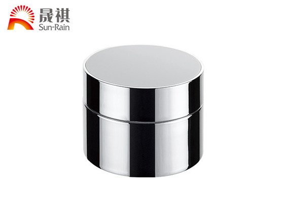 China Fancy Round Plastic Cosmetic Jars Acrylic Double Wall 50ml With Screw Cap supplier