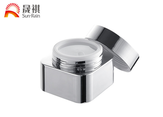 China Silver Aluminum Pmma Empty Cream Jars ,  Packaging Cosmetic Storage Containers supplier