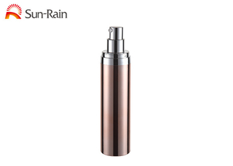 China Luxury Petg  Airless Lotion Pump Bottles 30ml 50ml Round Shape For Skin Care supplier