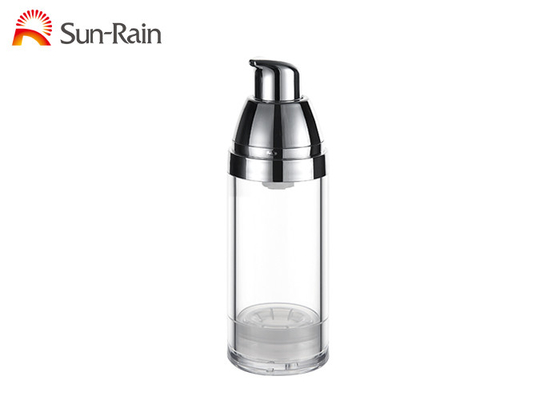 China Clear Airless Pump Bottle Cosmetic Face Cream Containers 30ml 50ml Capacity supplier