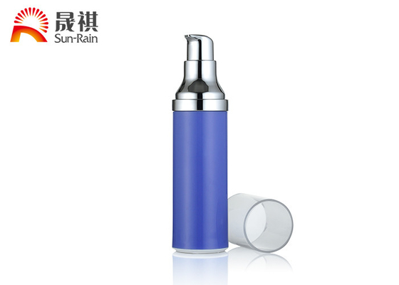 SR-2111A Customized PP Blue Lotion Pump Bottle , Airless Cream Jar 15ml 25ml 30ml