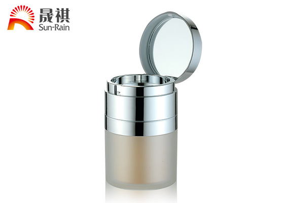 China Acrylic Round Plastic Cosmetic Jars Double Wall  ABS Collar Cosmetic 30ml supplier