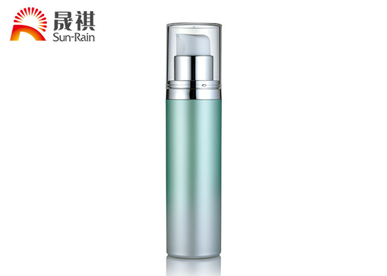 China Clear Palegreen Airless Bottle AS Airless Cosmetic Packaging 30ml 50ml SR-2179A supplier