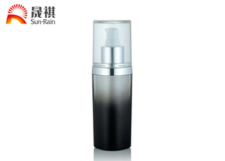 China ISO9001 Passed Black Acrylic Lotion Bottle With 50ml 60ml 120ml Capacity supplier