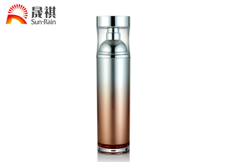 China PETG Material Orange Cosmetic Lotion Container SR2219 PE Inner 100ml /120ml supplier