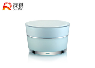 China Silver Round Plastic Cosmetic Jars SR-2303A PMMA Material For Cosmetic Skincare supplier