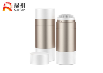 China Empty AS 50g round deodorant bottle container with sponge brush supplier