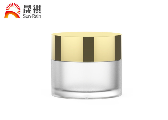 China Frosted Matting 30g Night Cream Jar Skincare Container With Screw Cap supplier