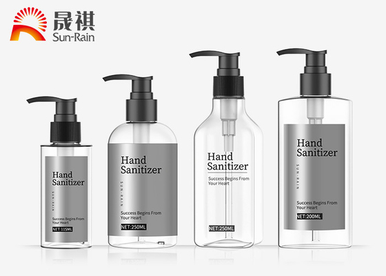 China Hair Care Body Wash PET Dispenser Bottle With Pump Shampoo Shower Bottle supplier