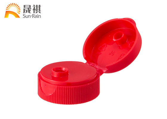 Red Plastic Cap Round Pump For Shampoo Bottle Caps Various Sizes SR204A