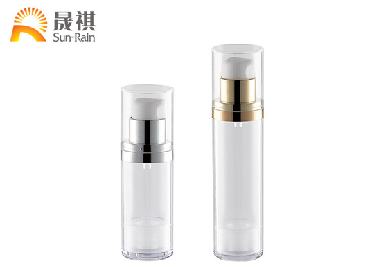 Clear Airless Pump Bottle Plastic Airless Packaging 30ml 50ml SR-2179A