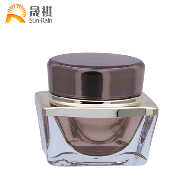 China Square Plastic Cosmetic Jars Bottle Clear Cosmetic Container For Face Cream SR2351 distributor
