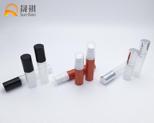 China PP Plastic Small Airless Pump Bottle 5ml 80ml 10ml For Sample Cream SR2105 distributor