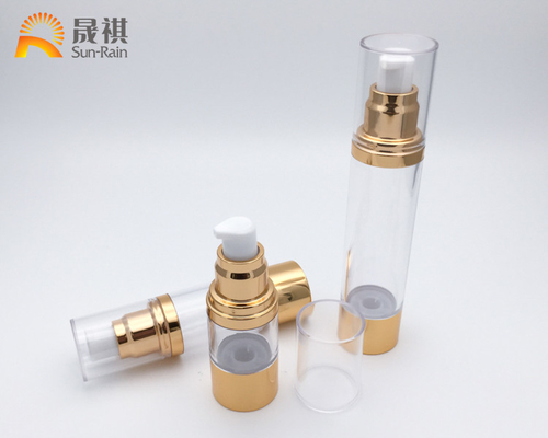 China Airless Cosmetic Bottle UV Artwork Lotion Essence Packaging SR2108 factory