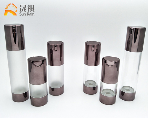China 15ml 30ml 50ml Lotion Airless Pump Bottle UV AS Empty Bottle For Cream distributor