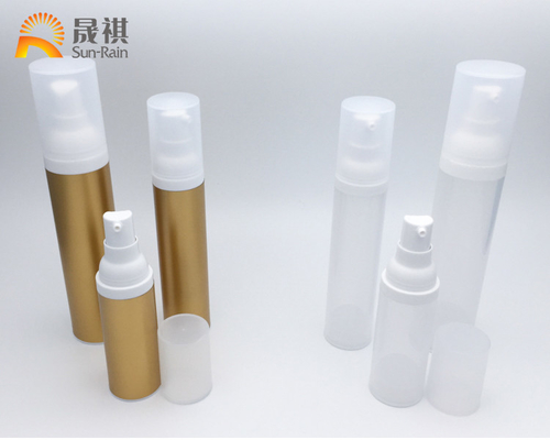 Plastic AS Airless Lotion Pump Bottles 30ml 50ml 80ml Cosmetic Packaging SR2109