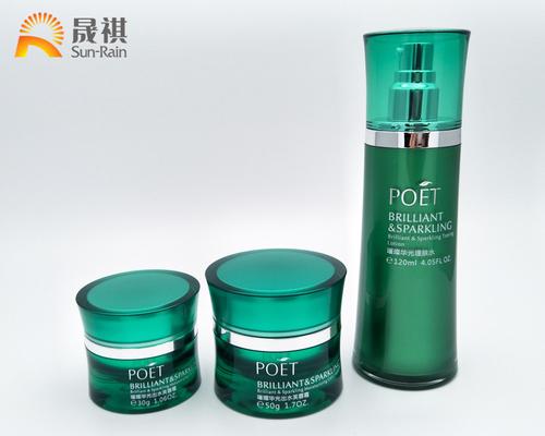 China Acrylic Lotion Bottle Empty Cream Jar Cosmetic Packaging Set Bottle distributor