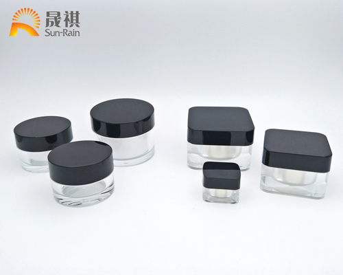 China Acrylic cream jar clear packaging bottle for eye cream sample jar 5g SR2305 distributor