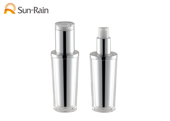 China MS acrylic lotion pump bottle 30ml decorative silver cosmetic bottle SR2295 distributor
