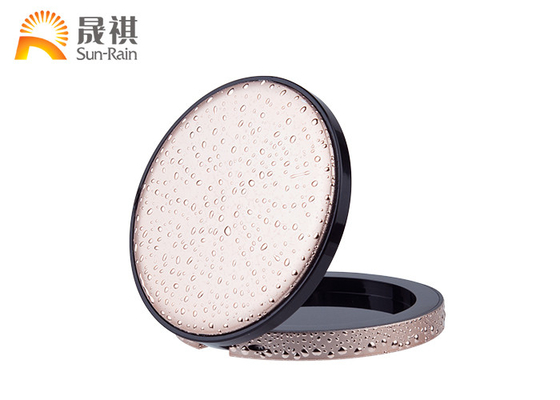 China Pink Round Empty Compact Powder Case Colorful Custom For Cosmetic Makeup distributor