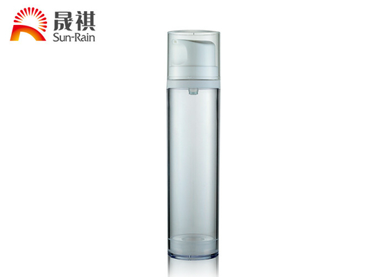 50ml 120ml 180ml Airless Pump Cosmetic Packaging White Round Shape